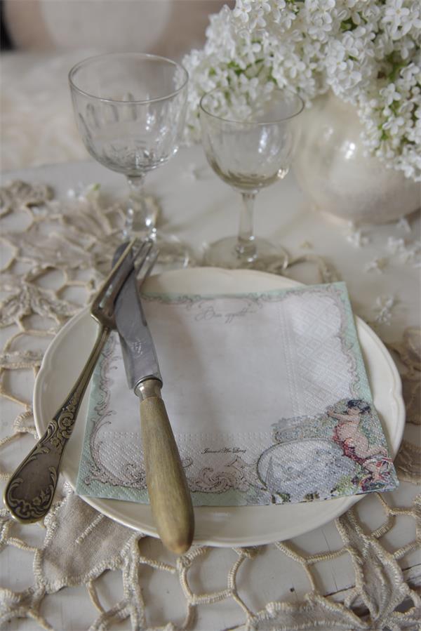 Jeanne d 39 arc living lunch servietten angel shabby chic for Wohnaccessoires wohnraumdeko