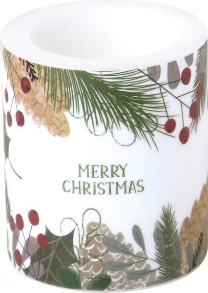 IHR Kerze Windlicht Natural merry christmas - Ideal Home Range