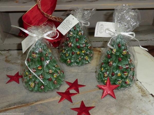 IHR 4 x Niedliche Kerze Weihnachtsbaum grün , decorated tree - Ideal Home Range