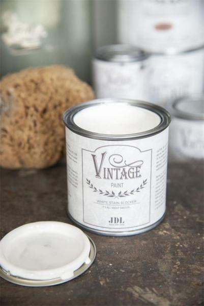 Vintage Paint 200 ml White Stain Blocker, Sperrgrund Farbe weiß, Grundierung von Jeanne d'Arc Living