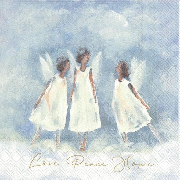 IHR 20 Lunch Servietten Love Peace Hope Liebe Frieden Hoffnung 33 x 33 cm