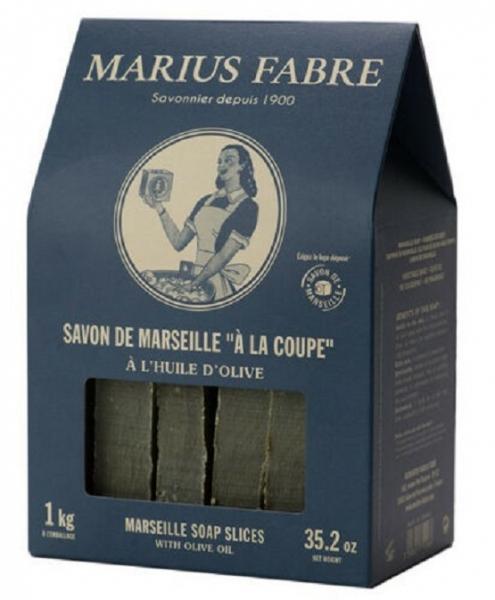Nature 1 kg Savon de Marseille in Scheiben mit 72 % Olivenöl Marius Fabre