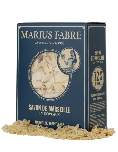 Nature 2 x 750 g Seifenflocken Marseiller Art Marius Fabre in Retro-Pappschachtel