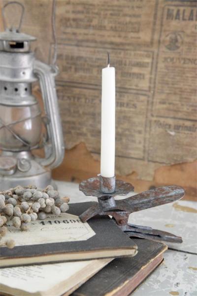 Jeanne d'Arc Living Kerzenhalter auf Clip Candle holder für Weihnachten, Shabby Chic