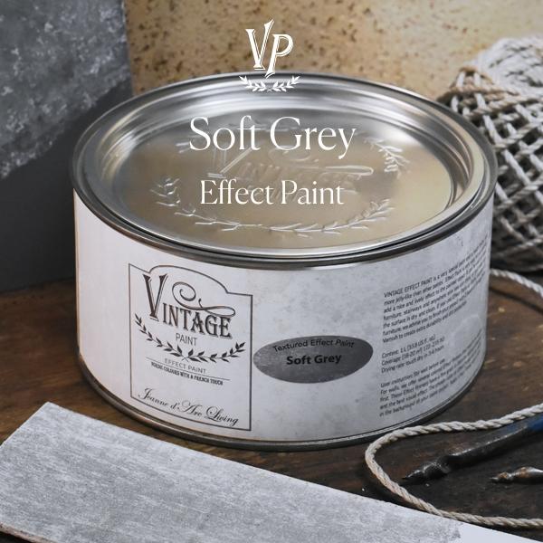 Vintage Paint 1000 ml Textured Effect Paint Soft grey, Strukturfarbe, Industry, JdL