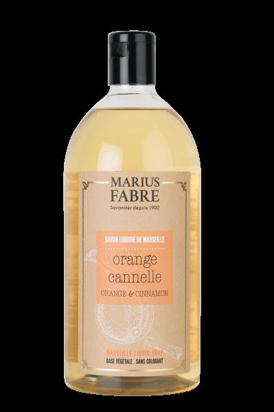 Bien être 2 x 1 L Flüssigseife Orange Zimt / Ecorces orange et cannelle Marius Fabre