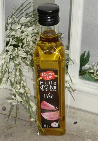 Bouton d'Or 1 x 250 ml Knoblauchöl Huile d'Olive à l'Ail mit Knoblauch + Olivenöl