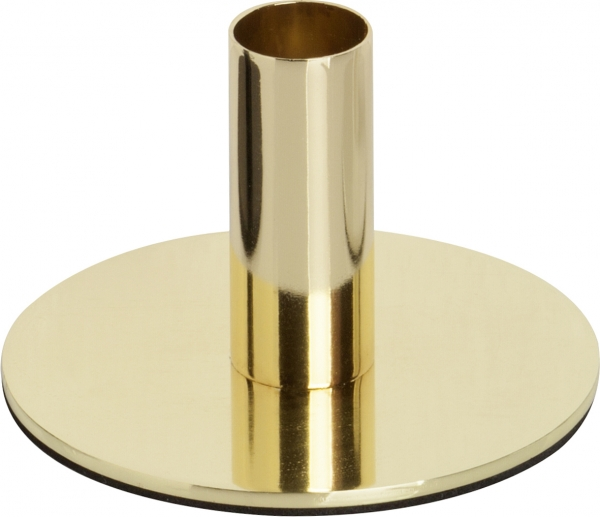 IHR Candle holder gold, Kerzenständer für Stabkerze, Metall, rund, Kerzenhalter