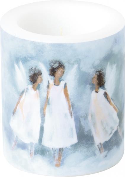 IHR Kerze Windlicht Love Peace Hope, h 10 cm, Weihnacht Liebe Friede Hoffnung