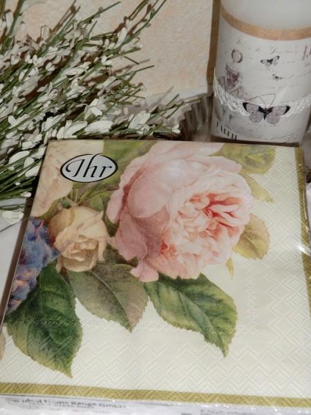 """Lunch Servietten """"Fairy rose champagner"""""""