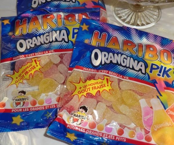 2 x 250 g Haribo Orangina PIK Bonbons, 2 Beutel Kaubonbons
