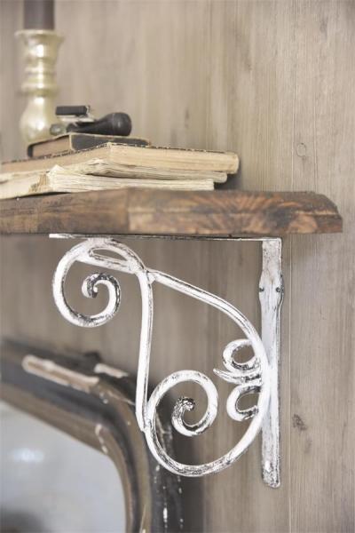Jeanne d'Arc Living Corner Frieze offwhite Eck Fries für Fenster + Regal Metall Shabby Chic