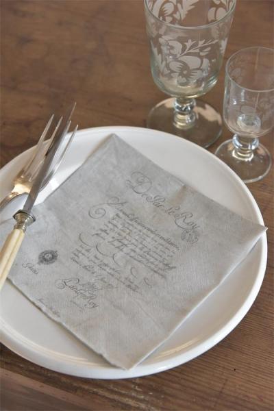 Jeanne d'Arc Living Lunch Servietten Document 20 St. Shabby Chic