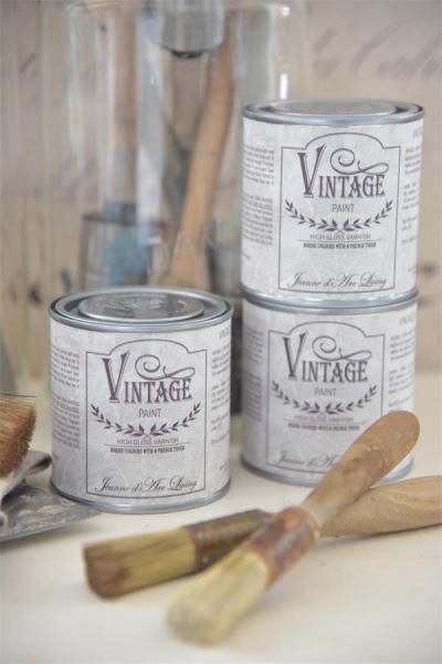 Vintage Paint 200 ml High Gloss Varnish clear, klarer farbloser harter Glanzlack JdL